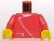 Part No: 973p0ac04  Name: Torso Zipper Curved on Jacket and Pocket Pattern (white zipper) / Red Arms / Yellow Hands
