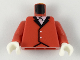 Part No: 973p12c01  Name: Torso Riding Jacket Pattern / Red Arms / White Hands