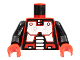 Part No: 973p63c01  Name: Torso Space Robot Pattern (Spyrius) / Black Arms / Red Hands