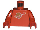 Part No: 973p90c02  Name: Torso Space Classic Moon Pattern / Red Arms / Red Hands