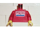 Part No: 973pb0034c01  Name: Torso Exxon Logo Pattern / Red Arms / Yellow Hands
