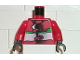 Part No: 973pb0130c01  Name: Torso Racers Jacket with Straps, Green & White Stripes Pattern / Red Arms / Black Hands