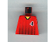Part No: 973pb0169  Name: Torso Soccer Black Fading Stripes and No. 4 Front and Back Pattern