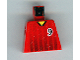 Part No: 973pb0171  Name: Torso Soccer Black Fading Stripes and No. 9 Front and Back Pattern
