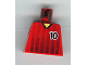 Part No: 973pb0173  Name: Torso Soccer Black Fading Stripes and No. 10 Front and Back Pattern