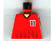 Part No: 973pb0175  Name: Torso Soccer Black Fading Stripes and No. 11 Front and Back Pattern