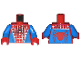 Part No: 973pb0190c01  Name: Torso Spider-Man Costume 1 Blue Pattern / Blue Arms / Red Hands