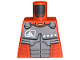 Part No: 973pb0218  Name: Torso Exo-Force Dark Gray Body Armor with Four Stars Pattern