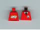 Part No: 973pb0232  Name: Torso Infomaniac with Bow Tie - LEGO Logo on Back Pattern