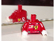 Part No: 973pb0342c01  Name: Torso Racers Ferrari front, Vodafone back (Stickers) with R. Barrichello Name Pattern / Red Arms / White Hands