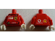 Part No: 973pb0414c01  Name: Torso Racers Ferrari front, Vodafone back (Stickers) with F. Massa Name Pattern / Red Arms / White Hands