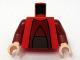 Part No: 973pb0605c01  Name: Torso SW Chancellor Palpatine Pattern / Dark Red Arms / Light Nougat Hands