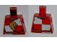 Part No: 973pb0693  Name: Torso Castle Kingdoms Lion Head Quarters with Belt Front and Back Pattern