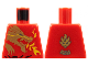 Part No: 973pb0833  Name: Torso Ninjago Gold Dragon Head and Flames Front and 'Kai' Back Pattern