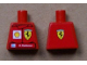 Part No: 973pb0920  Name: Torso Racers Ferrari/Shell front, Ferrari Logo back (Stickers) with K. Raikkonen Name Pattern
