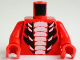 Part No: 973pb1038c01  Name: Torso Ninjago Snake with White and Large Black Scales Pattern / Red Arms / Red Hands