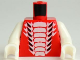 Part No: 973pb1039c01  Name: Torso Ninjago Snake with White and Small Black Scales Pattern / White Arms / White Hands