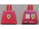 Part No: 973pb1075  Name: Torso Racers Ferrari front, Ferrari Logo back (Stickers) with F. Massa Name Pattern