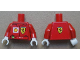 Part No: 973pb1075c01  Name: Torso Racers Ferrari front, Ferrari Logo back (Stickers) with F. Massa Name Pattern / Red Arms / White Hands