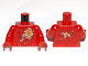 Part No: 973pb1206c01  Name: Torso Ninjago Fire Energy Pattern (NRG Kai) / Red Arms / Red Hands