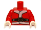 Part No: 973pb1243c01  Name: Torso Santa Jacket with Fur and Black Belt Pattern / Red Arms / White Hands