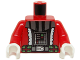 Part No: 973pb1750c01  Name: Torso Santa Jacket with White Trim and SW Darth Vader Pattern / Red Arms / White Hands