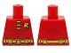 Part No: 973pb2038  Name: Torso Batman 'R' Symbol, Muscles Outline, 3 Yellow Clasps and Utility Belt Pattern