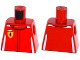Part No: 973pb2044  Name: Torso Speed Champions with Ferrari Logo Pattern