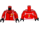 Part No: 973pb2143c01  Name: Torso Speed Champions with Ferrari and AFcorse Logo Pattern / Red Arms / Black Hands