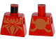 Part No: 973pb2197  Name: Torso Spider-Man Muscles Outline with Gold Spider Pattern (Iron Spider)