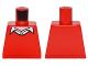 Part No: 973pb2250  Name: Torso Batman Sweater V-Neck over Button Down White Shirt Pattern