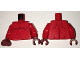 Part No: 973pb2426c01  Name: Torso Nexo Knights Fat Stomach with Dark Red Contour Lines Pattern / Red Arms / Dark Red Hands