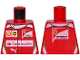 Part No: 973pb2639  Name: Torso Speed Champions with Shell, UPS, Ferrari, Puma and Red Santander Logo Front, Ferrari Logo Back Pattern