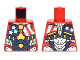 Part No: 973pb2646  Name: Torso Armor with Stars and Stripes and Silver Plates and Yellow Circle Arc Reactor Pattern