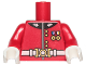 Part No: 973pb3293c01  Name: Torso Royal Guard Uniform with Gold Buttons, Medals and White Belt Pattern / Red Arms / White Hands