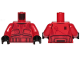 Part No: 973pb3712c01  Name: Torso SW Armor Sith Trooper Ep. 9 with Black Lines Pattern / Red Arms / Black Hands