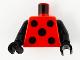 Part No: 973pb4131c01  Name: Torso with 5 Black Circles Pattern / Black Arms / Black Hands