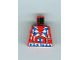 Part No: 973px104  Name: Torso Western Indians Triangles, Blue/White Amulet Pattern