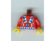 Part No: 973px104c01  Name: Torso Western Indians Triangles, Blue/White Amulet Pattern / Red Arms / Yellow Hands