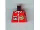 Part No: 973px131  Name: Torso TV Logo, Zipper and ID Badge Pattern