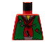 Part No: 973px14  Name: Torso Castle Ninja Vest Green Tattered Pattern (Robber)