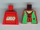 Part No: 973px14a  Name: Torso Castle Ninja Vest Green Tattered Pattern (Robber) - LEGO Logo on Back