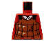 Part No: 973px15  Name: Torso Castle Ninja Armor Brown Leather Pattern (Robber)