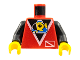 Part No: 973px52c01  Name: Torso Divers Submarine Logo Pattern / Black Arms / Yellow Hands