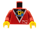 Part No: 973px52c02  Name: Torso Divers Submarine Logo Pattern / Red Arms / Yellow Hands