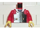 Part No: 973px99c01  Name: Torso Castle Ninja Armor Plate, Blue Collar Pattern (Samurai) / Red Arms / Yellow Hands