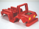 Part No: 98189pb02  Name: Duplo Car Body Jeep with Headlights and Fire Logo Pattern