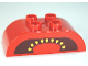 Part No: 98223pb004  Name: Duplo, Brick 2 x 4 Curved Top with Tomato Yellow Seeds and Black Cavity Pattern