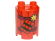 Part No: 98225pb007  Name: Duplo, Brick Round 2 x 2 x 2 with Dynamite and Railroad Track Pattern