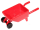 Part No: 98288c03  Name: Minifigure, Utensil Wheelbarrow Frame with Black Trolley Wheels (98288 / 2496)